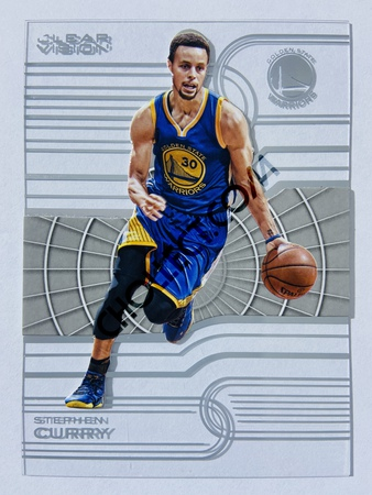 Stephen Curry - Golden State Warriors 2015-16 Panini Clear Vision #34