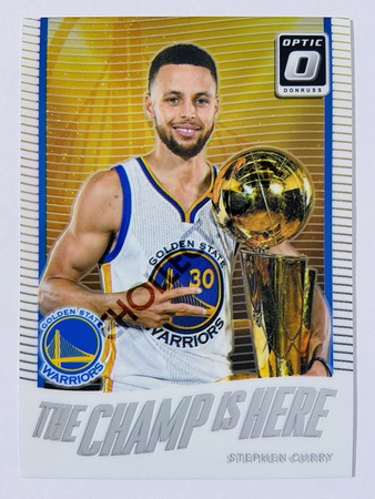 Stephen Curry - Golden State Warriors 2017-18 Panini Donruss Optic The Champ is Here #5