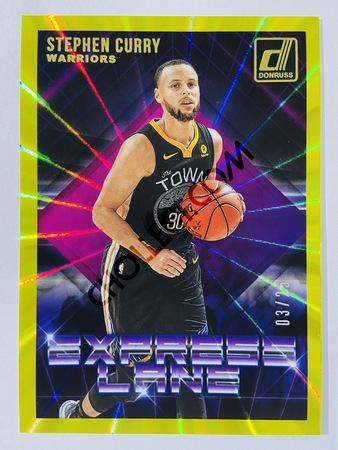 Stephen Curry - Golden State Warriors 2018-19 Panini Donruss Yellow Laser Parallel #18 | 03/25