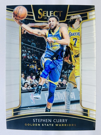 Stephen Curry - Golden State Warriors 2018-19 Panini Select Base Card #1