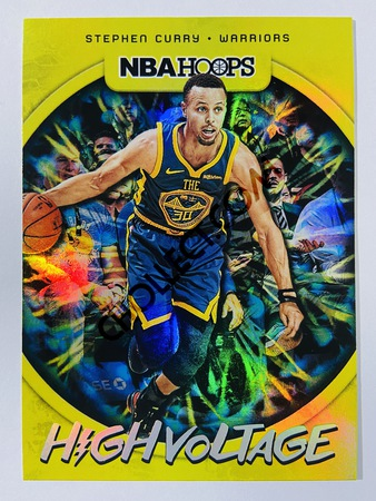 Stephen Curry - Golden State Warriors 2019-20 Panini Hoops High Voltage #10