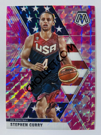 Stephen Curry - Golden State Warriors 2019-20 Panini Mosaic Pink Camo Parallel #260