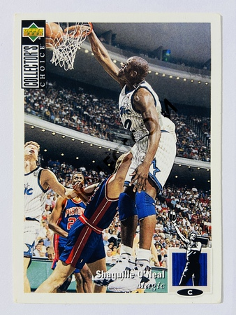Shaquille O'Neal - Orlando Magic 1993 Upper Deck 1993-94 Magic Schedule #228