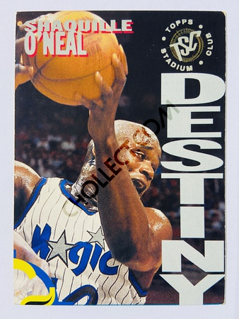 Shaquille O'Neal - Orlando Magic 1994 Topps Stadium Club Destiny #7B