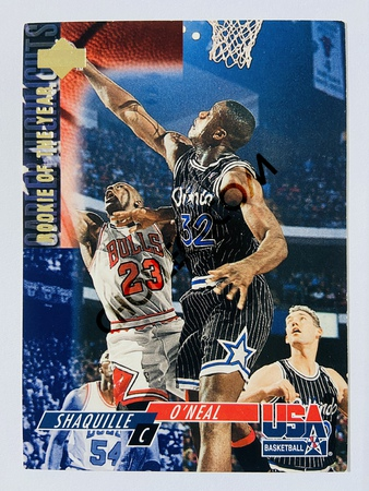 Shaquille O'Neal - Orlando Magic 1994 Upper Deck USA Basketball Career Highlights Rookie of the Year #50
