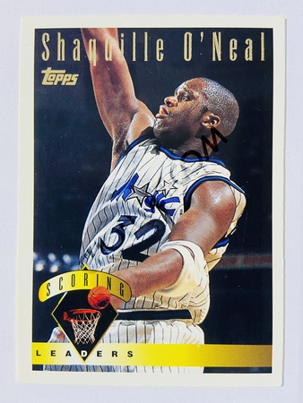 Shaquille O'Neal - Orlando Magic 1995 Topps Scoring Leaders #6
