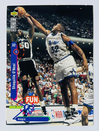 Shaquille O'Neal - Orlando Magic 1995 Upper Deck Collector's Choice Fun Facts #184
