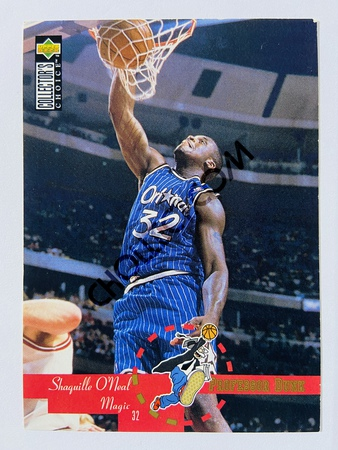 Shaquille O'Neal - Orlando Magic 1995 Upper Deck Collector's Choice Professor Dunk #202