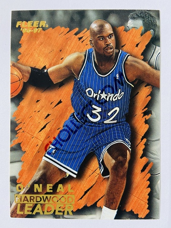 Shaquille O'Neal - Orlando Magic 1996 Fleer Hardwood Leader #138