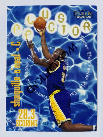 Shaquille O'Neal - Los Angeles Lakers 1996 Fleer Tradition Plus Factor #143