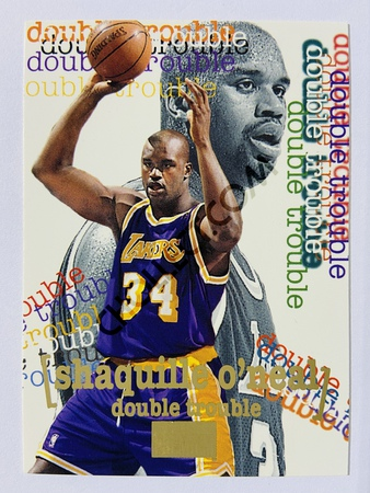 Shaquille O'Neal - Los Angeles Lakers 1996 Skybox Double Trouble #274