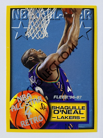 Shaquille O'Neal - Los Angeles Lakers 1997 Fleer NBA All-Star 4 Retro #289