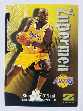 Shaquille O'Neal - Los Angeles Lakers 1997 Skybox Z-Force Zupermen #196