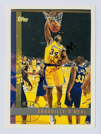 Shaquille O'Neal - Los Angeles Lakers 1997 Topps #109