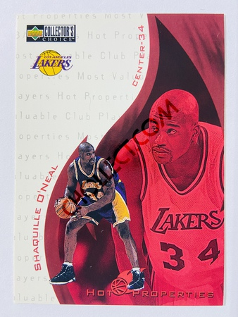 Shaquille O'Neal - Los Angeles Lakers 1997 Upper Deck Collector's Choice Hot Properties #368