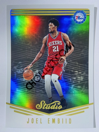 Joel Embiid - Philadelphia 76ers 2016-17 Panini Studio Action Base Card #41