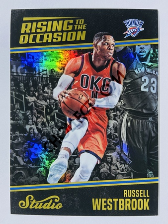 Russell Westbrook - Oklahoma City Thunder 2016-17 Panini Studio Rising to the Occasion #RO-RW