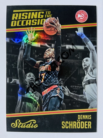 Dennis Schroder - Atlanta Hawks 2016-17 Panini Studio Rising to the Occasion #RO-DS