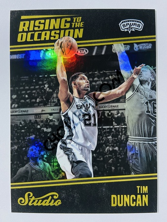 Tim Duncan - San Antonio Spurs 2016-17 Panini Studio Rising to the Occasion #RO-TD