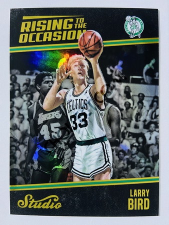Larry Bird - Boston Celtics 2016-17 Panini Studio Rising to the Occasion #RO-LB