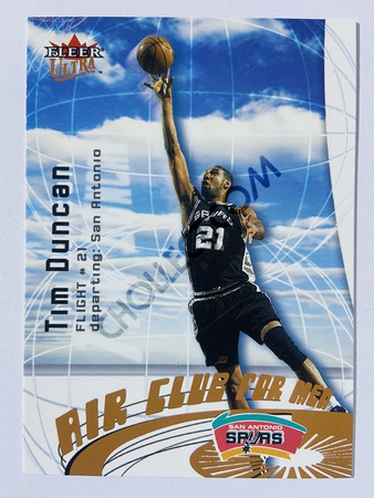Tim Duncan - San Antonio Spurs 2000-01 Fleer Ultra Air Club for Men #4