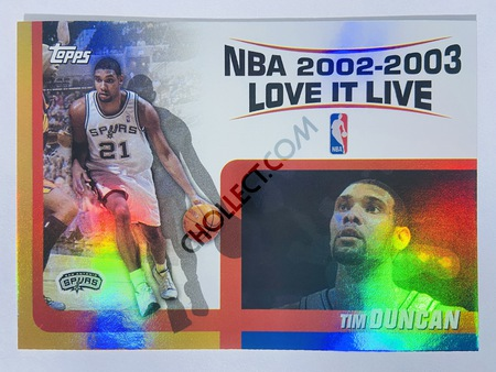 Tim Duncan - San Antonio Spurs 2002-03 Topps NBA 2002-2003 Love It Live #LL-TD
