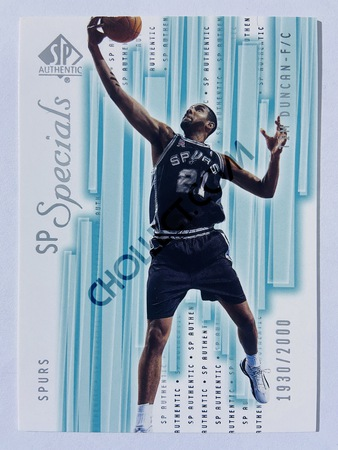 Tim Duncan - San Antonio Spurs 2002 Upper Deck SP Authentic SP Specials #142 | 1930/2000