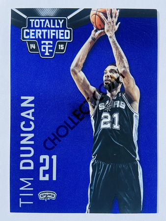 Tim Duncan - San Antonio Spurs 2013-14 Panini Totally Certified Platinum Blue #109 | 010/149