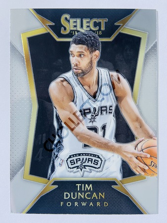 Tim Duncan - San Antonio Spurs 2014-15 Panini Select Concourse Level Base Card #13