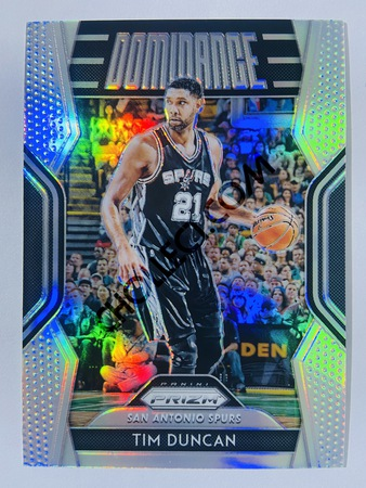 Tim Duncan - San Antonio Spurs 2018-19 Panini Prizm Dominance Silver Parallel #27