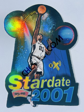 Tim Duncan - San Antonio Spurs 1997-98 Fleer EX-2001 Star Date Die Cut RC Insert Spurs Rookie #5