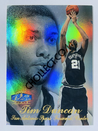 Tim Duncan - San Antonio Spurs 1997-98 Fleer Flair Showcase Rookie Card #235