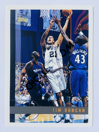 Tim Duncan - San Antonio Spurs 1997 Topps Rookie Card #115
