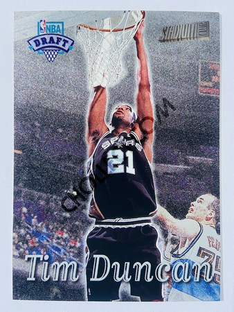 Tim Duncan - San Antonio Spurs 1997-98 Topps Stadium Club NBA Draft Rookie #201