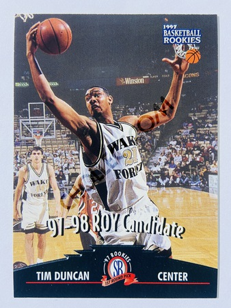 Tim Duncan - San Antonio Spurs 1997-98 The Score Board ROY Candidate Rookie #57