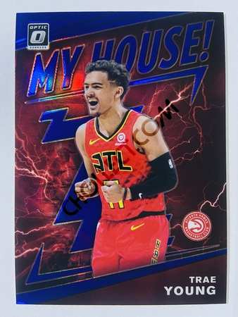 Trae Young - Atlanta Hawks 2019-20 Panini Donruss Optic My House! Purple Parallel #18