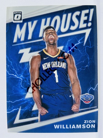 Zion Williamson - New Orleans Pelicans 2019-20 Panini Donruss Optic My House! Insert #15