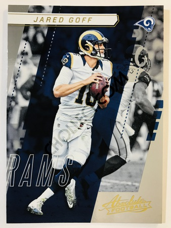 Jared Goff - Los Angeles Rams Panini Absolute Football 2017-18 #3 Base Card