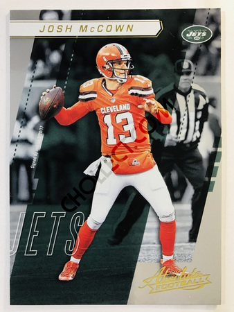 Josh McCown - New York Jets Panini Absolute Football 2017-18 #8 Base Card
