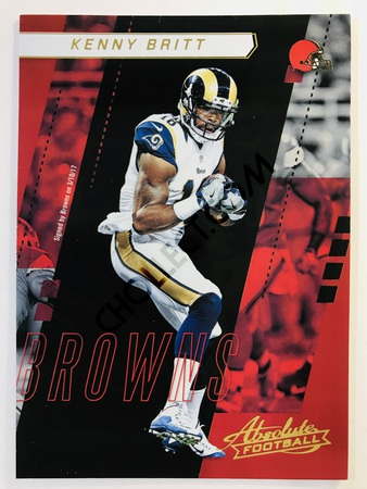 Kenny Britt - Cleveland Browns Panini Absolute Football 2017-18 #10 Base Card
