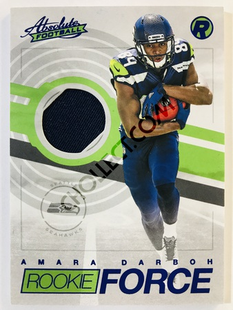 Amara Darboh - Seattle Seahawks Panini Absolute Football 2017-18 #20 Rookie Force Insert Blue