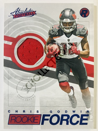 Chris Godwin - Tampa Bay Buccaneers Panini Absolute Football 2017-18 #32 Rookie Force Insert Blue