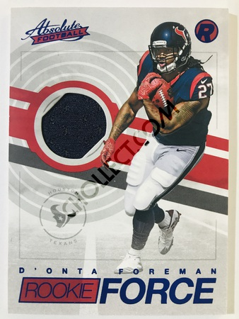 D'Onta Foreman - Houston Texans Panini Absolute Football 2017-18 #38 Rookie Force Insert Blue