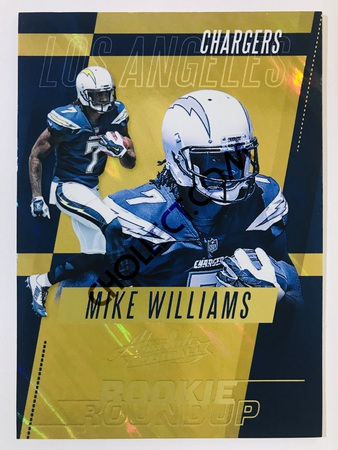 Mike Williams - Los Angeles Chargers Panini Absolute Football 2017-18 #17 Rookie Roundup Insert
