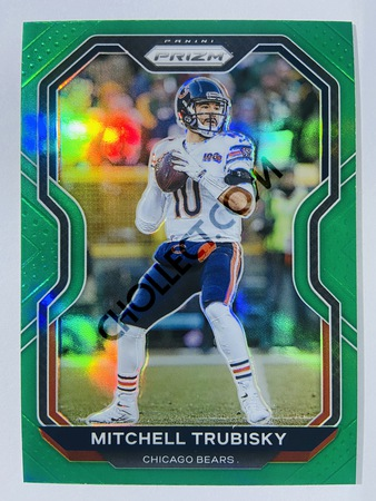 Mitchell Trubisky - Chicago Bears 2020-21 Panini Prizm Football Green Parallel #187
