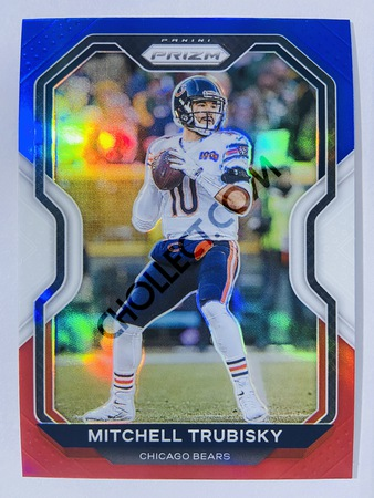 Mitchell Trubisky - Chicago Bears 2020-21 Panini Prizm Football Red/White/Blue Parallel #187