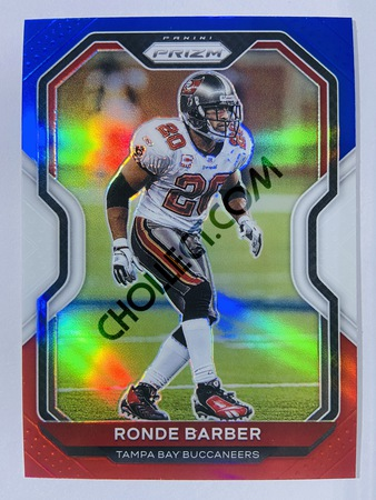 Ronde Barber - Tampa Bay Buccaneers 2020-21 Panini Prizm Football Red/White/Blue Parallel #262