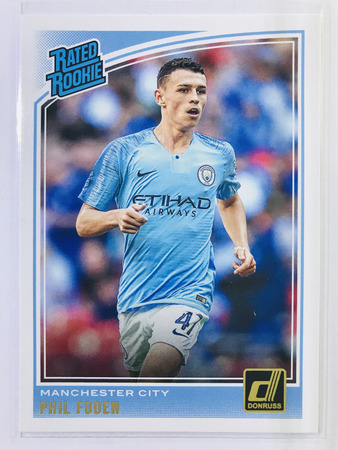 Phil Foden - Manchester City Panini Donruss Soccer 2018-19 #179 Rated Rookie