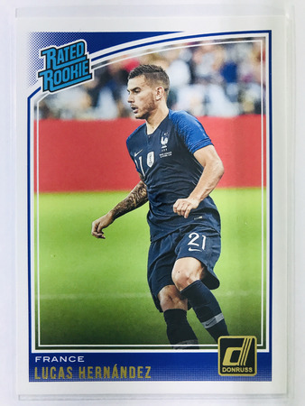 Lucas Hernandez - France Panini Donruss Soccer 2018-19 #190 Rated Rookie
