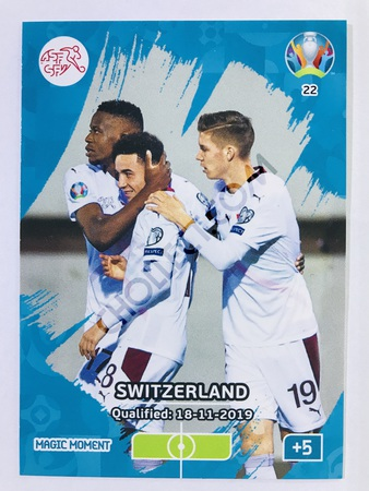 Switzerland Qualified - Magic Moment | Panini Adrenalyn XL UEFA Euro 2020 #22